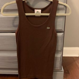 Lacoste brown fitted tank top, Size 36 (US 4)